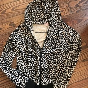 Juicy Couture cheetah track suit jacket S